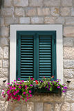 Wooden shutters on the windows Stock Images