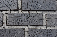 Wooden sidewalk Stock Image