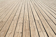 Wooden sidewalk Royalty Free Stock Photos