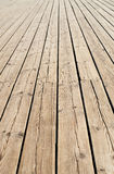Wooden sidewalk Royalty Free Stock Images
