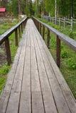 A wooden sidewalk in sanatorium Royalty Free Stock Photo