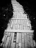 Wooden sidewalk Stock Images