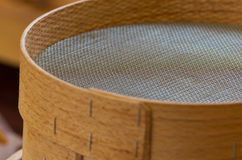 Wooden sieve. Close up of wooden sieve Stock Photography