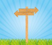Wooden sign Royalty Free Stock Images
