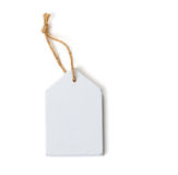 Wooden sign, blank, rope. White wooden sign, blank, rope Royalty Free Stock Images
