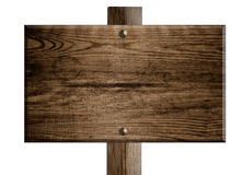 Wooden sign board Royalty Free Stock Photography