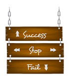 Wooden Sign 006. Wooden board sign with chain Vector EPS10 Royalty Free Stock Photography