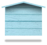 Wooden sign board house shape Royalty Free Stock Photography