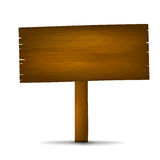 Wooden Sign 001 Royalty Free Stock Photo