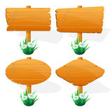 Wooden sign boards Royalty Free Stock Photo