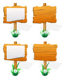 Wooden sign boards Stock Photography