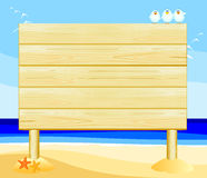 Wooden sign customizable Royalty Free Stock Photo