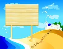 Wooden sign customizable Stock Photo