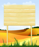 Wooden sign customizable Stock Images
