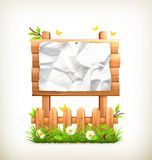 Wooden sign in grass Royalty Free Stock Photo