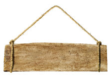 Wooden Sign Hanging From Rope Concept Royalty Free Stock Images
