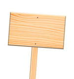 Wooden sign, isolated, clipping path. Royalty Free Stock Photo