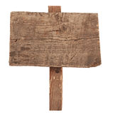Wooden Sign Isolated On White. Royalty Free Stock Image