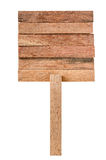 Wooden sign isolated Royalty Free Stock Images