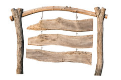Wooden sign. Old wooden sign on white background royalty free stock photography
