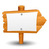 Wooden sign, post, icon, symbol, label Royalty Free Stock Images