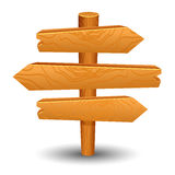 Wooden sign post icon symbol label Stock Image