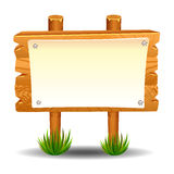 Wooden sign post icon symbol label Royalty Free Stock Photos