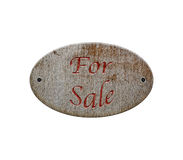 Wooden sign for sale Stock Image