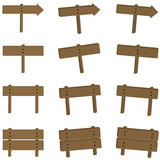 Wooden Sign Set Stock Image
