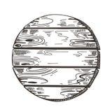 Wooden sign. Sketch graphics. Boardwalk background. Vector image. stock illustration