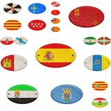 Wooden sign of Spain. Royalty Free Stock Photos