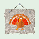 Wooden Sign with Turkey Stock Image