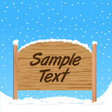 Wooden sign vector Stock Photo