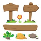 Wooden sign vector collection design vector illustration