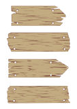 Wooden Sign Vector Set Stock Photos