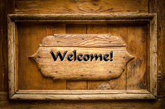 Wooden sign welcome Royalty Free Stock Image