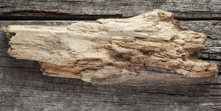 Wooden sign on wood plank background Stock Photography