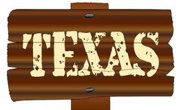 Wooden Texas Sign Royalty Free Stock Images