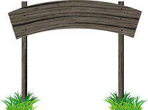 Wooden signboard arc Royalty Free Stock Image