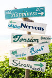 Wooden signboard Royalty Free Stock Images