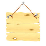 Wooden Signboard Hanging On A Nail Stock Photo