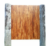 Wooden signboard Stock Image