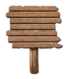 Wooden signboard. Old road sign made from wood. Royalty Free Stock Photos