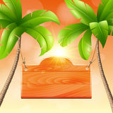 Illustration of summer vacation royalty free stock photo