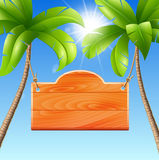 Illustration for a summer holiday by the sea stock photos