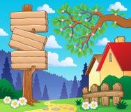 Wooden signboard theme Royalty Free Stock Photos