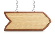 Wooden signboard stock illustration