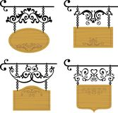 Wooden signboards