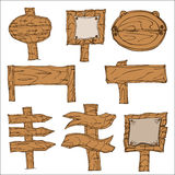 Wooden Signpos Stock Image