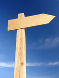 Wooden signpost Royalty Free Stock Photography